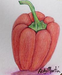 Art: Red Pepper by Artist Ulrike 'Ricky' Martin