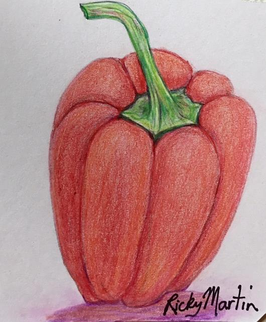 Art: Red Pepper by Artist Ulrike 'Ricky' Martin