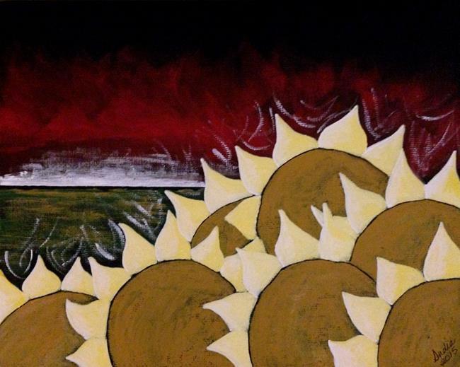 Art: Sunset on Fire by Artist Indiamoss