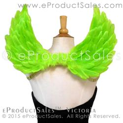 Art: eProductSales Victoria Feather Angel Wings in Kiwi Green by Artist Rose LaFleur