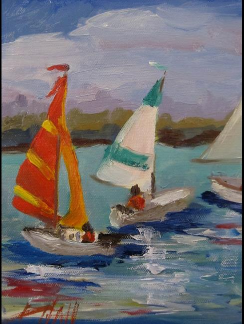 Art: Sailing on the Lake by Artist Delilah Smith