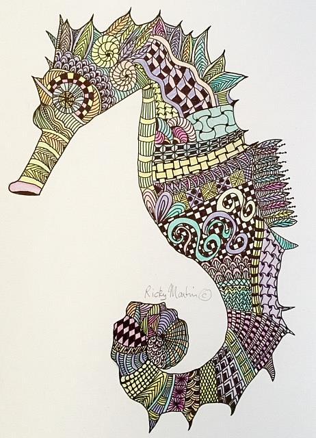 Art: Seahorse by Artist Ulrike 'Ricky' Martin
