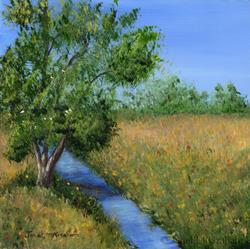 Art: Country Stream by Artist Janet M Graham