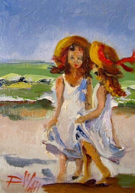 Art: Girls on the Beach by Artist Delilah Smith
