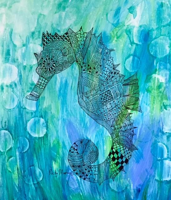 Art: Seahorse by Artist Ulrike 'Ricky' Martin
