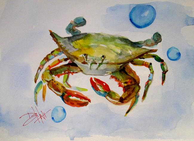 Art: Crab and Bubbles by Artist Delilah Smith