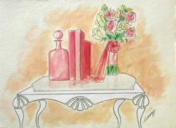 Art: PRETTY IN PINK -- $215 incl. shipping by Artist Jayne Somogy
