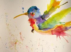 Art: Colorful Hummingbird No. 2 by Artist Delilah Smith