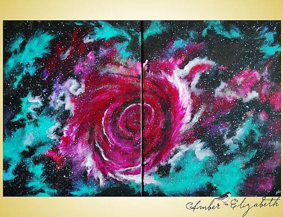 Art: Stardust Melody (sold) by Artist Amber Elizabeth Lamoreaux