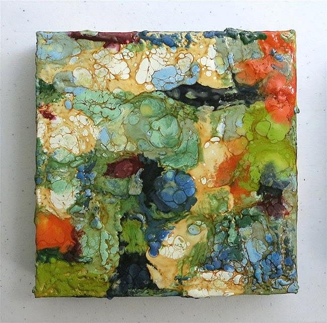 Art: Encaustic Abstract 1  ( sold) by Artist Ulrike 'Ricky' Martin