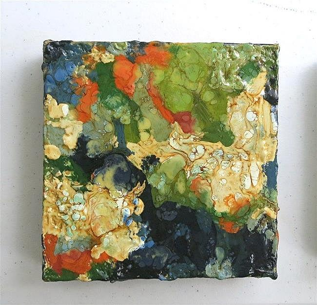 Art: Encaustic Abstract 3  ( sold) by Artist Ulrike 'Ricky' Martin