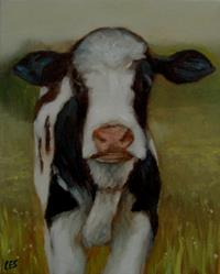 Art: Deilghtful Cow by Artist Christine E. S. Code ~CES~