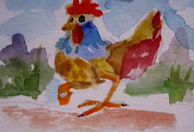 Art: Fancy Chicken by Artist Delilah Smith