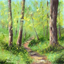 Art: Spring Woods by Artist Janet M Graham