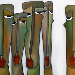 Art: Original Abstract Art Painting Constituents by Artist Thomas C. Fedro