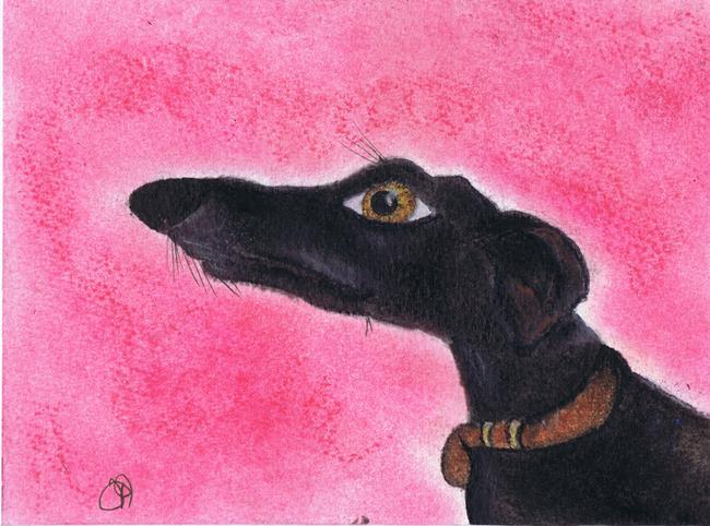 Art: GREYHOUND g710 by Artist Dawn Barker