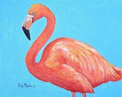 Art: Pink Flamingo - sold by Artist Ulrike 'Ricky' Martin