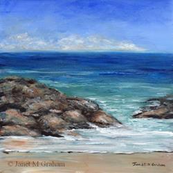 Art: Rocky Beach by Artist Janet M Graham