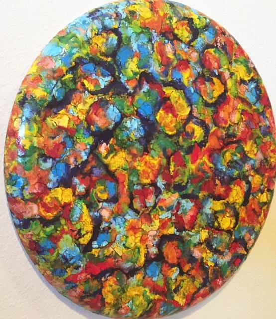 Art: Abstract Encaustic Painting by Artist Ulrike 'Ricky' Martin
