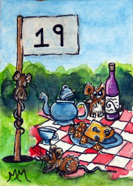 Art: Party at the 19th  (SOLD) by Artist Monique Morin Matson