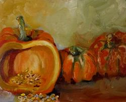 Art: Pumpkin Orange by Artist Delilah Smith