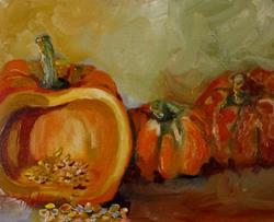 Art: Pumpkin Orange by Artist Delilah Smith