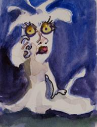 Art: Spooky Ghost by Artist Delilah Smith