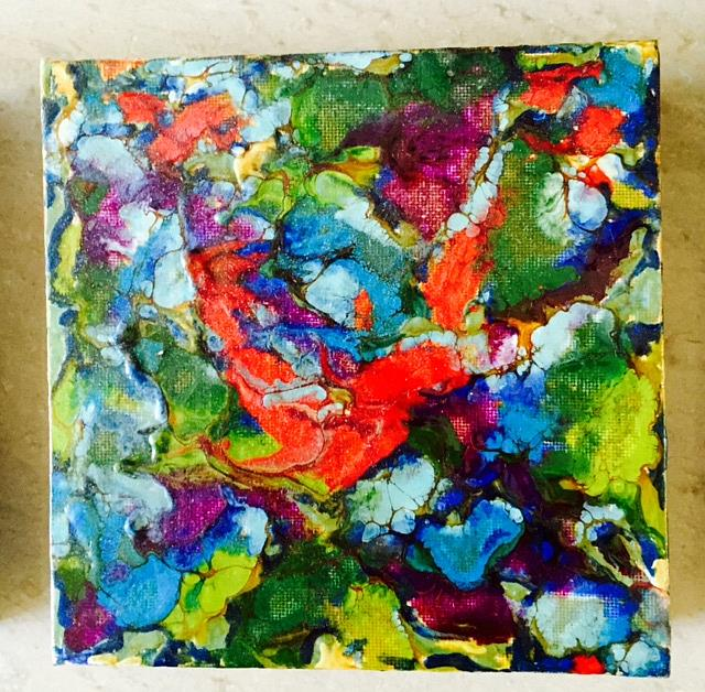 Art: Encaustic Abstract 1 by Artist Ulrike 'Ricky' Martin