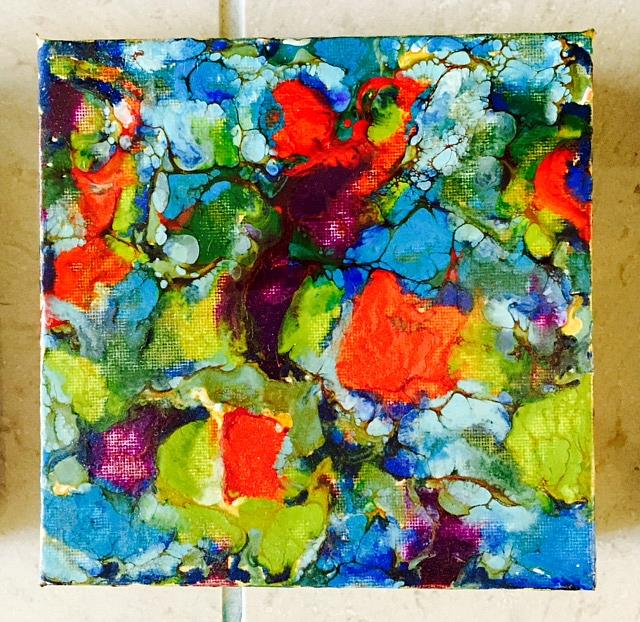 Art: Encaustic Abstract  2 by Artist Ulrike 'Ricky' Martin