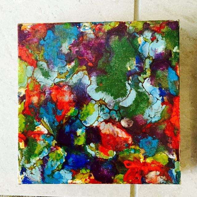 Art: Encaustic Abstract  4 by Artist Ulrike 'Ricky' Martin