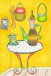 Art: Tea Time-Sold by Artist Sherry Key