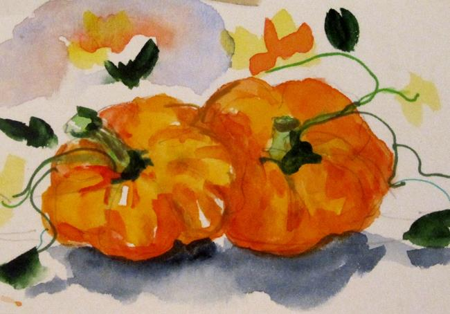 Art: Pumpkins by Artist Delilah Smith