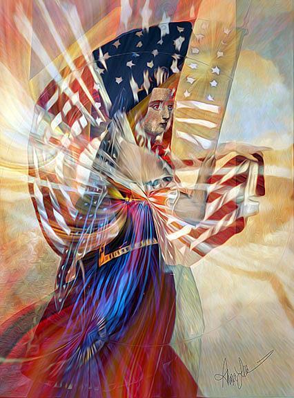 Art: Standard Bearer by Artist Alma Lee