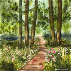 Art: Spring Pathway by Artist Janet M Graham