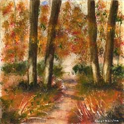 Art: Autumn Pathway by Artist Janet M Graham