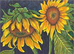 Art: Sunflowers - sold by Artist Ulrike 'Ricky' Martin