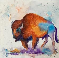 Art: Buffalo Abstract  - sold by Artist Ulrike 'Ricky' Martin