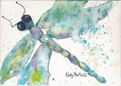 Art: Dragonfly  - sold by Artist Ulrike 'Ricky' Martin