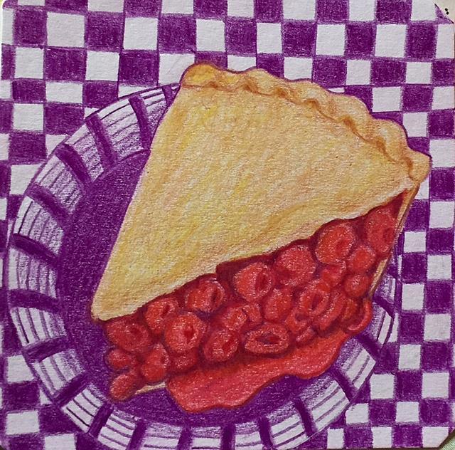 Art: Raspberry Pie by Artist Ulrike 'Ricky' Martin