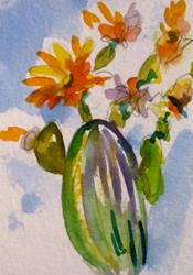 Art: Cactus with Flowers by Artist Delilah Smith