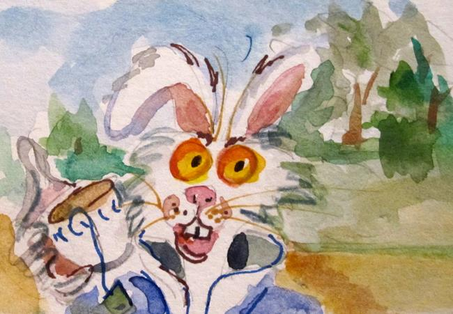 Art: March Hare by Artist Delilah Smith