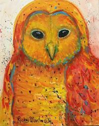Art: Baby Owl by Artist Ulrike 'Ricky' Martin