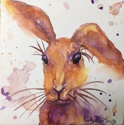 Art: Abstract Hare by Artist Ulrike 'Ricky' Martin