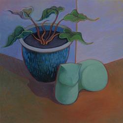 Art: Felice's Meditation Corner by Artist Elizabeth Fiedel