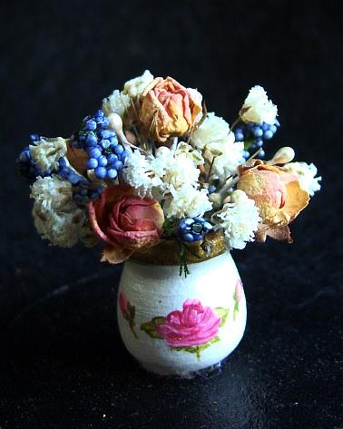 Art: Miniture Rosebud Arrangement by Artist Leea Baltes