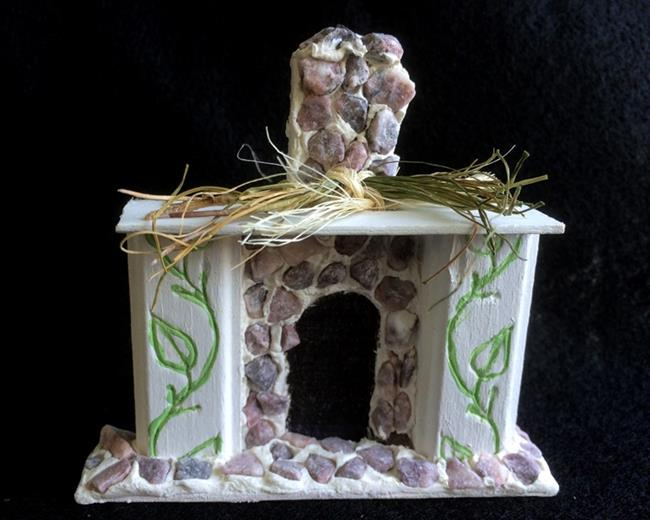 Art: Miniature Fireplace Mantle by Artist Leea Baltes