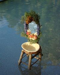 Art: Fairy Shell Sink & Mirror by Artist Leea Baltes