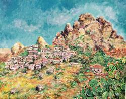 Art: Pentedattilo Italia by Artist Nata ArtistaDonna