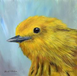 Art: Yellow Warbler No 2 by Artist Janet M Graham