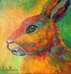 Art: Abstract Bunny by Artist Ulrike 'Ricky' Martin